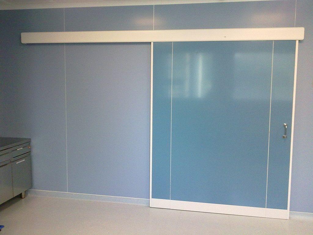 puertas correderas de aluminio para salas blancas vidriadas padana cleanroom srl - Puertas Correderas Blancas