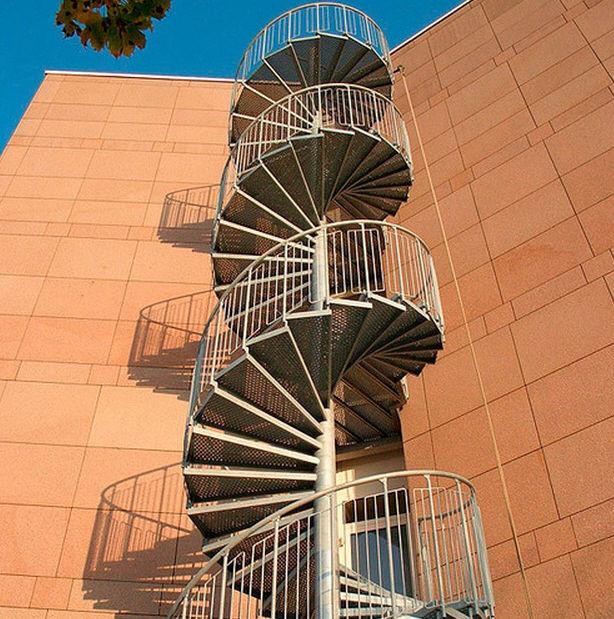escalera de caracol metlica