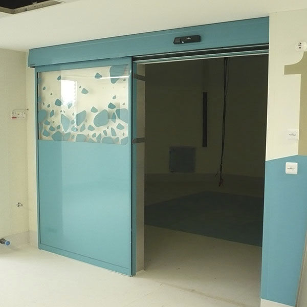 puerta corredera de vidrio para higinicas para hospital diva l clean