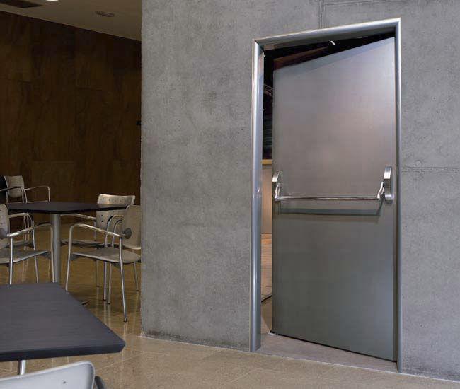 puerta abatible para exteriores industrial cortafuegos puertas angel mir
