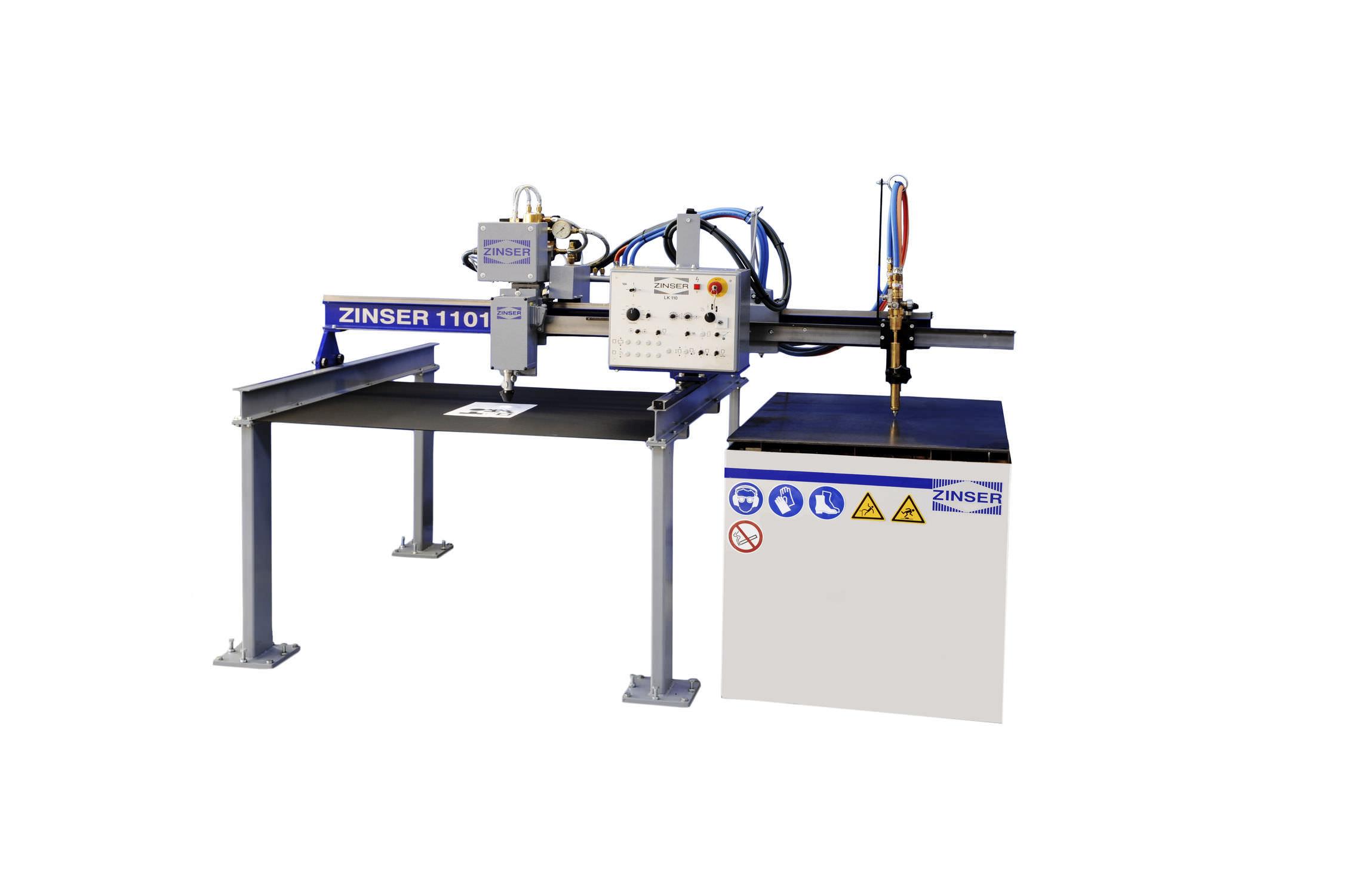 Máquina de corte para metal / por oxicorte / CNC - ZINSER 1101 ...