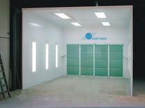 Cabina de pintura abierta / para piezas de recambio / con filtro seco