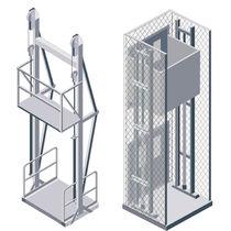 Elevador de plataforma / hidráulico / para productos a granel / vertical