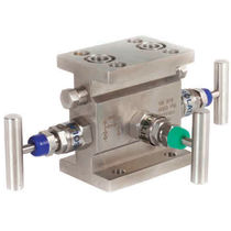 Manifold 3 vías / de acero inoxidable / de aislamiento / de calibración