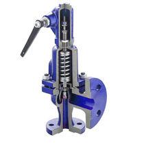 Válvula de seguridad para depósito / para circuito de agua / de silo / para tolva