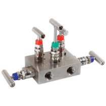 Manifold 5 vías / de acero inoxidable / de calibración / de aislamiento