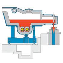 Horno de fusión / de cámara / de inducción / horizontal