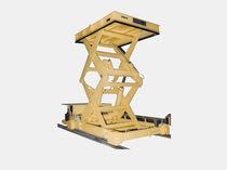 Mesa elevadora de doble tijera / hidráulica / de mano