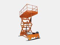 Plataforma elevadora de tijera móvil / eléctrica