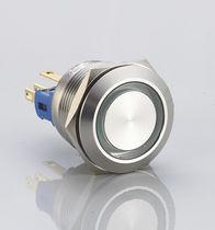 Botón pulsador unipolar / no luminoso / acción momentánea / de aluminio