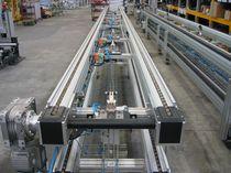 Transportador con cadena / de manipulación / de transporte / horizontal