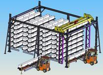 Almacén automático vertical / para productos largos / con puente grúa de corredera