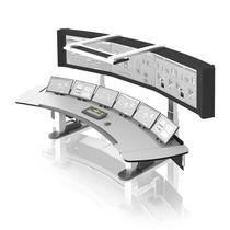 Terminal de operador con teclado / de pie / de control / de visualización