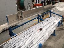 Línea de extrusión para canaletas de cableado / de perfiles / para PVC / de doble tornillo