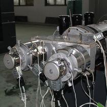 Línea de extrusión de tubos / para termoplásticos / para PVC / monoestrato