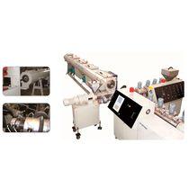 Línea de extrusión de tubos / para HDPE / para caucho de silicona / multicapas