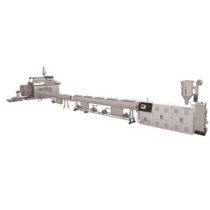 Línea de extrusión para tubos de pared hueca / de tubos / para HDPE / refrigerada con agua