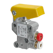 Válvula con chapaleta / con control neumático / de control / para aire