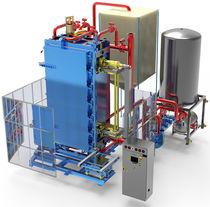 Moldeadora de espuma plástica / de bloques de EPS / controlada por PLC / vertical