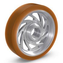 Rueda con aro / de poliuretano / de elastómero / para grandes cargas