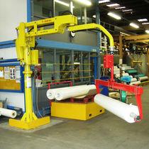 Manipulador neumático / con horquilla / para rollos / de columnas