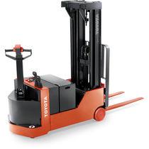 Apiladora eléctrica / con operador a pie / con largueros de retención / con contrapeso
