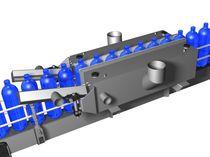 Secador de aire caliente / continuo / prensa / con transportador de cinta