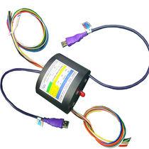 Anillo colector USB / de eje hueco / compacto