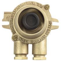 Botón pulsador de seta / unipolar / 2 polos / con doble ruptura