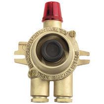 Botón pulsador de seta / unipolar / 2 polos / con indicador luminoso