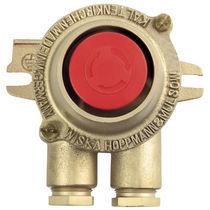 Botón pulsador de parada de emergencia / unipolar / 2 polos / con doble ruptura
