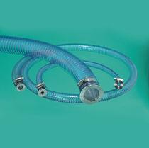 Tubo flexible de PVC / de helio / de brida / con trenza metálica