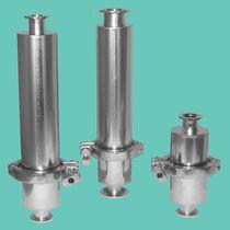 Filtro de gas / con cesta / hermético / para bomba de vacío