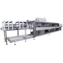 Enfajadora automática / para botellas de vidrio / para cajas de cartón / de manipulación de latas