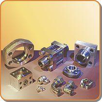 Brida para tubos / de acero / fija / de ángulo recto