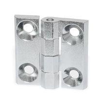 Bisagra de aluminio / de zinc moldeado a presión / de esquina / para enroscar