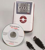 Registrador de datos de temperatura / de humedad / USB / con pantalla LCD
