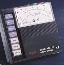 Probador de resistencia de tierra / para botón / con comprobador para diferencial