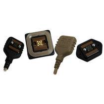 Conector de datos / rectangular / enchufe ciego / autocentrante