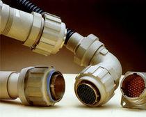 Conector de alimentación eléctrica / circular / con racor de tornillo / de plástico