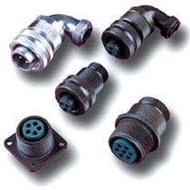 Conector de alimentación eléctrica / circular / con racor de tornillo / multipolar