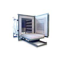 Horno tratamiento térmico / de mufla / de solera móvil / resistencia eléctrica