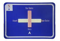 Panel de señalización vial