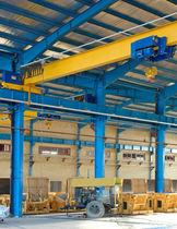 Puente grúa monorriel / para almacenes / con sistemas de elevación ligera / para ruedas y para aplicaciones ligeras