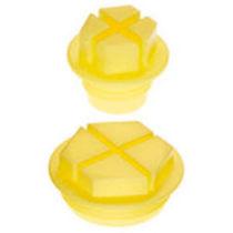 Tapón hexagonal / de rosca / de PEHD