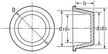 Tapón cónico / de polietileno de baja densidad (PEBD) / universal
