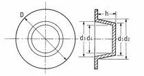 Tapón redondo / macho / de polietileno de baja densidad (PEBD) / de brida