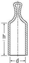 Capuchón redondo / de PVC / para altas temperaturas / con tirador