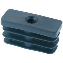 Tapón rectangular / macho / de nailon / de presión