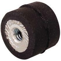 Soporte antivibratorio redondo / de elastómero / tipo C / de rosca